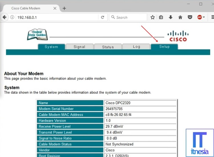 Cara Mengganti Password WiFi First Media CISCO DPC 2320 2