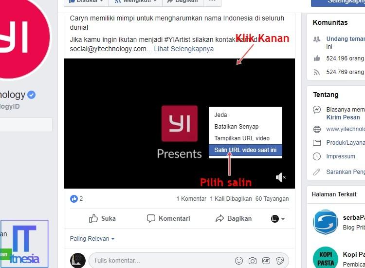 Cara Download Video Di Facebook PC