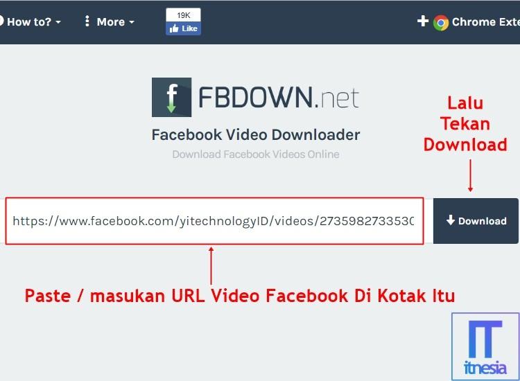 Cara Download Video Di Facebook PC 2