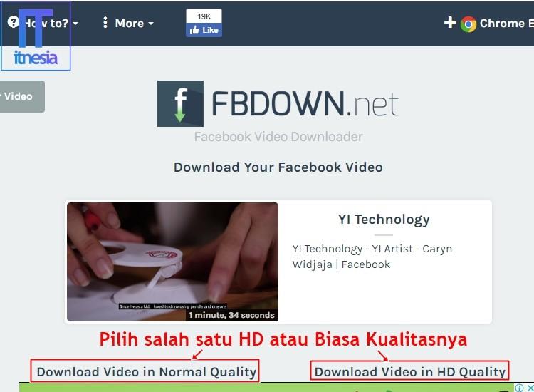 Cara Download Video Di Facebook PC3