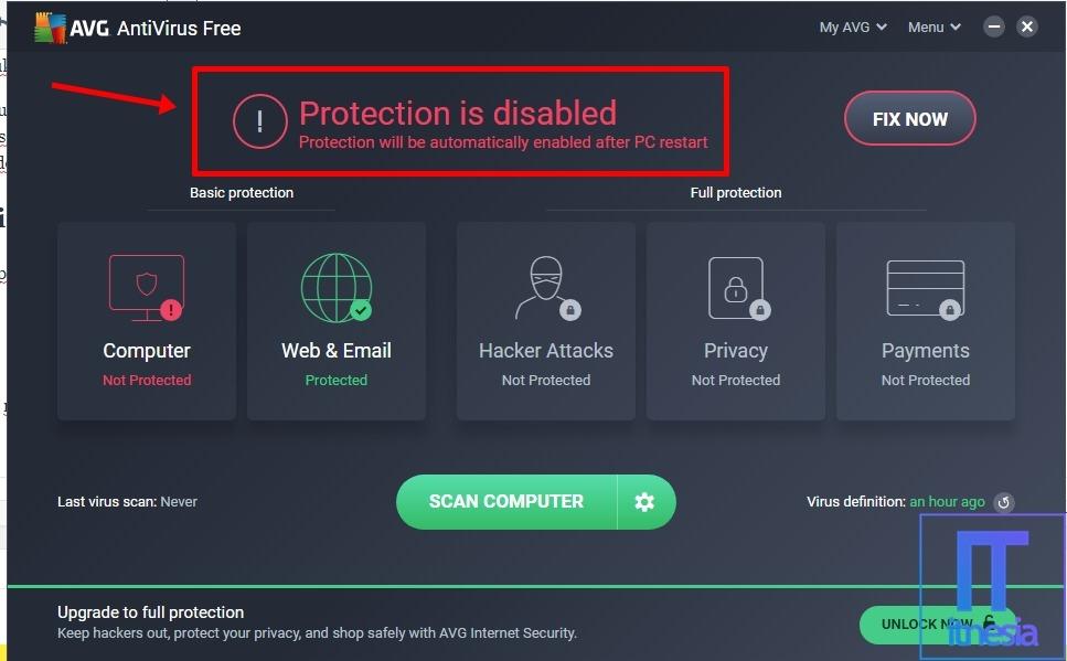 Cara Mematikan Antivirus AVG Untuk Sementara Waktu 7