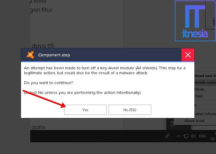 Cara Mematikan Antivirus Avast Untuk Sementara Pada Windows 10 4
