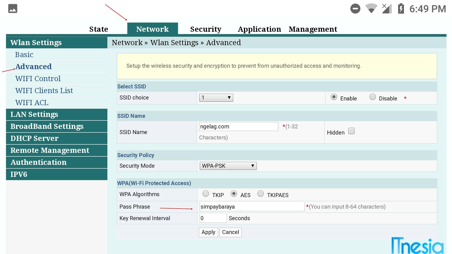 Cara Mengganti Password WiFi Indihome Fiberhome