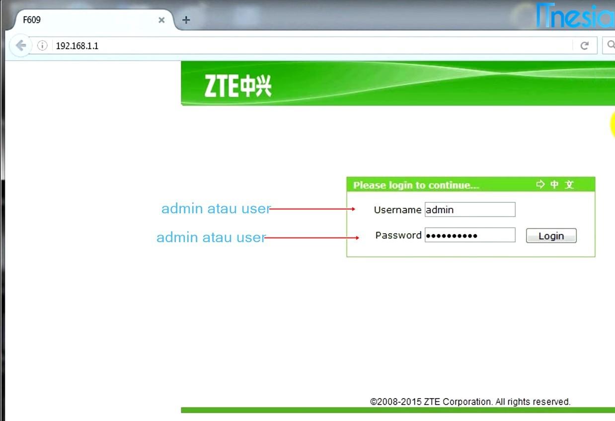 Cara Mengganti Password WiFi Indihome ZTE F609 1