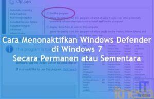 Cara Menonaktifkan Windows Defender di Windows 7 Secara Permanen atau Sementara