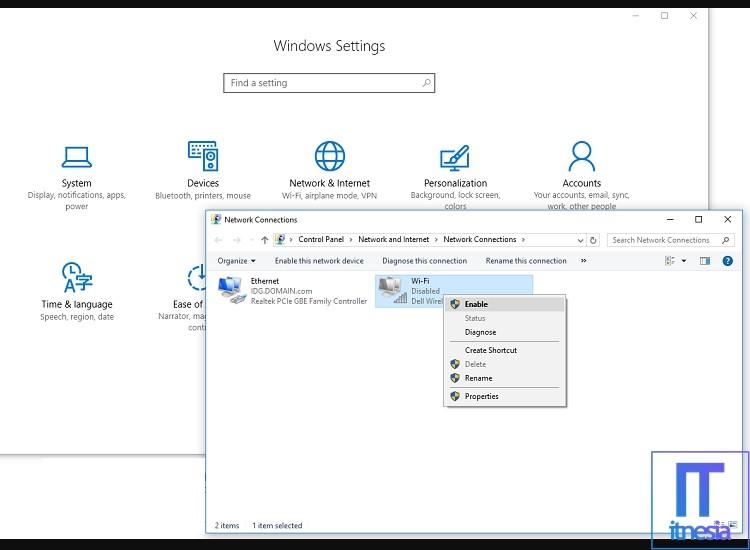Laptop Tidak Bisa Connect WiFi Aktifkan Wireless Network Adapter