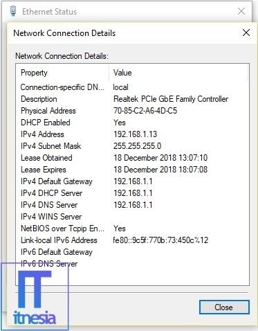 Laptop Tidak Bisa Connect WiFi Periksa Wireless Connection Properties