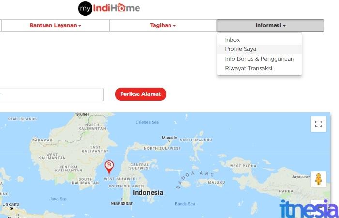 Cara Cek Tagihan Indihome Online - Masuk Halaman Profile