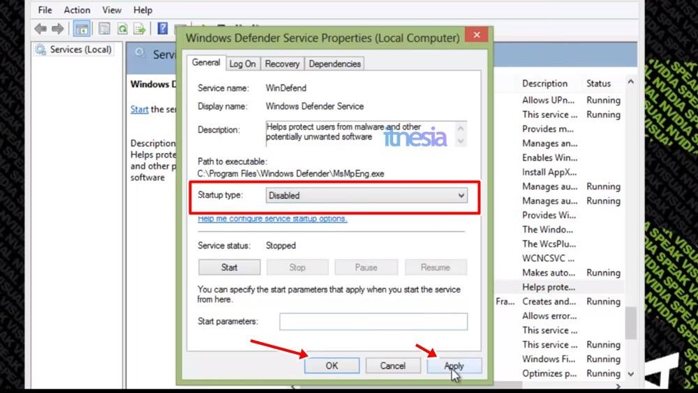 Cara Disable Windows Defender Di Windows 8 Secara Permanen