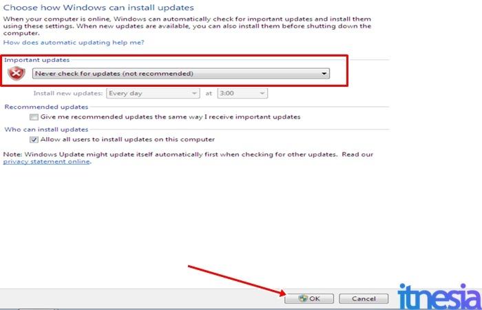 Cara Mematikan Auto Update Windows 7 - Mematikan Auto Update Pada Windows 7
