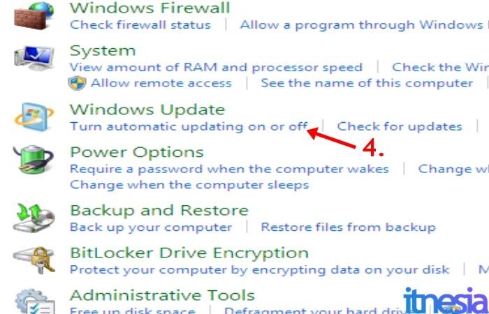 Cara Mematikan Auto Update Windows 7 - Pengaturan Windows Update
