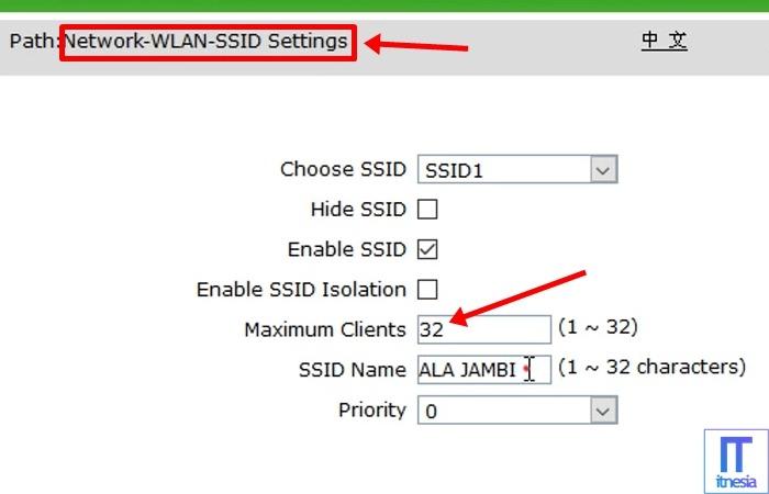 Cara Membatasi Pengguna WiFi ZTE- Halaman SSID Settings