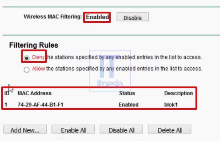 Cara Memblokir Pengguna WiFi (TP-Link) - Hasil Akhir