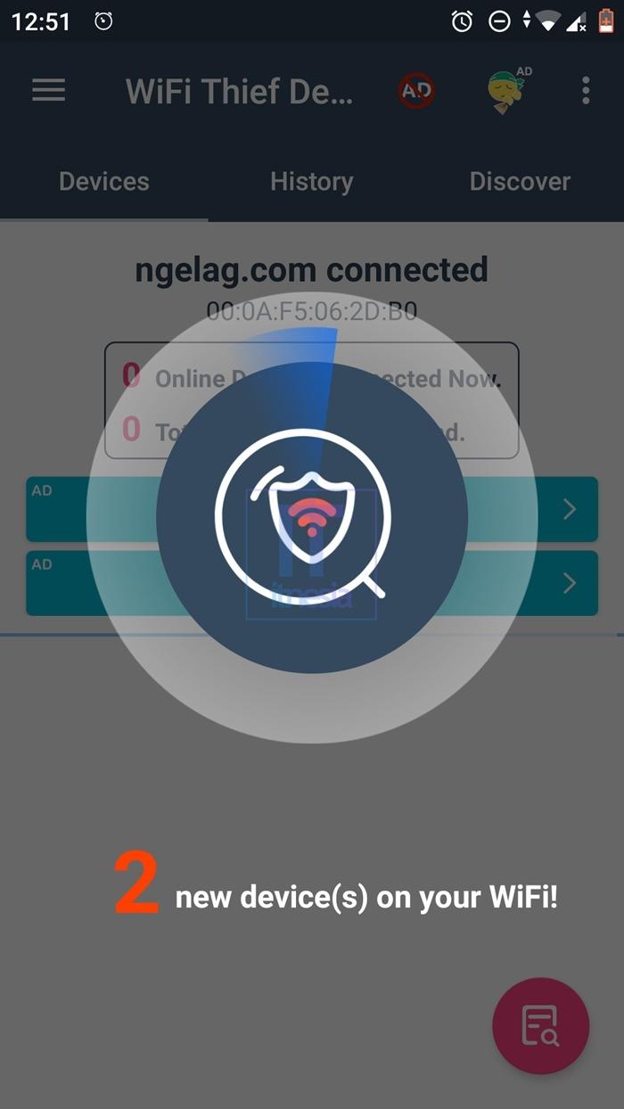 Cara Memblokir Pengguna WiFi Yang Tidak Dikenal - Proses Scanning