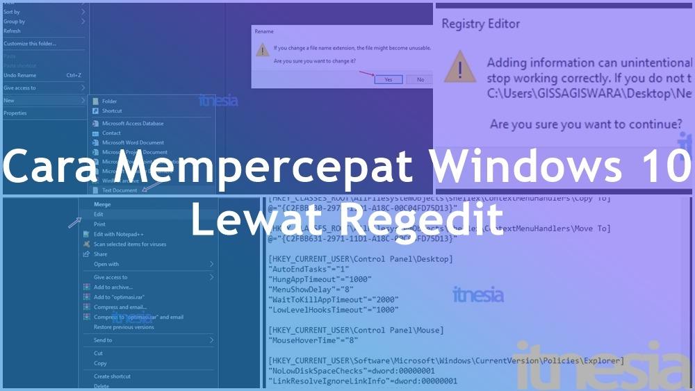 Cara Mempercepat Windows 10 Dengan Regedit (100% Mudah)