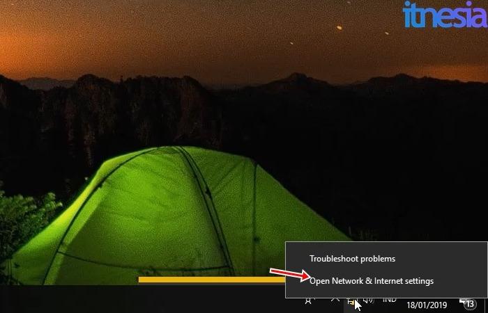 Cara Mengatasi Unidentified Network Dengan Mudah Dan Sederhana - Icon Network Pada Pojok Kanan Bawah Layar