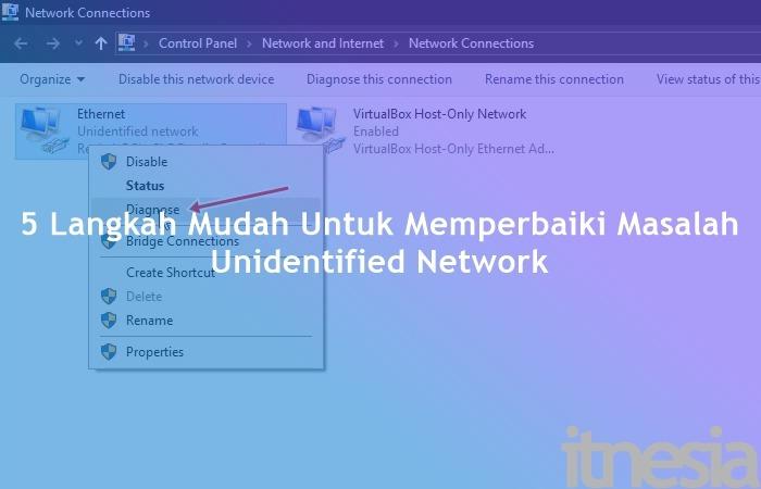 Cara Mengatasi Unidentified Network Dengan Mudah Dan Sederhana