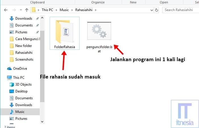 Cara Mengunci Folder Dengan Notepad - Proses Mengunci Folder