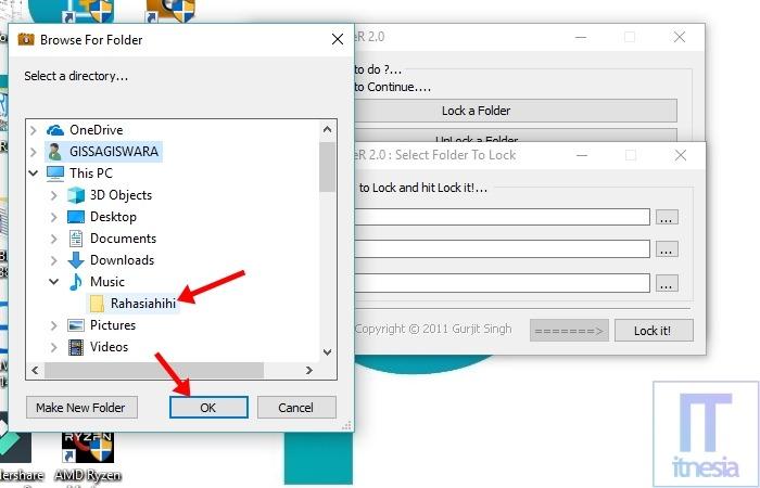Cara Mengunci Folder Di Laptop Windows 10 Menggunakan Bantuan Software Lock A Folder - Pilih atau buat folder baru juga bisa