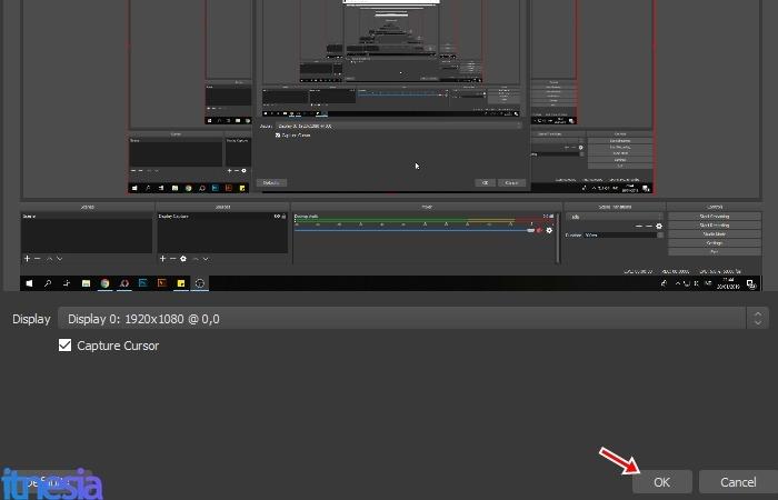Cara Merekam Layar Komputer Pakai OBS - Display Capture Preview