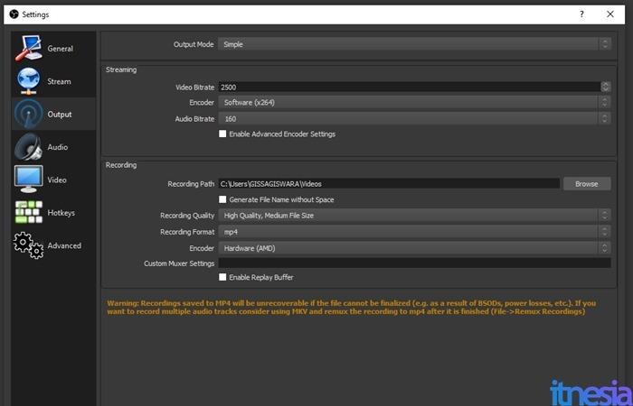 Cara Merekam Layar PC Menggunakan OBS - Pengaturan Kualitas Video Rekaman OBS