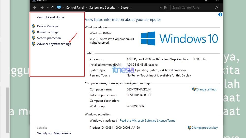 Cara mengatasi windows 10 yang lemot dengan Mematikan Visual Effect - Jendela System Properties