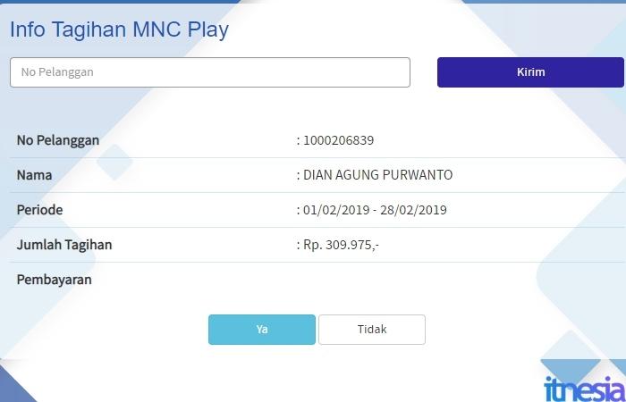 Contoh Tagihan MNC Play Yang Belum Dibayar