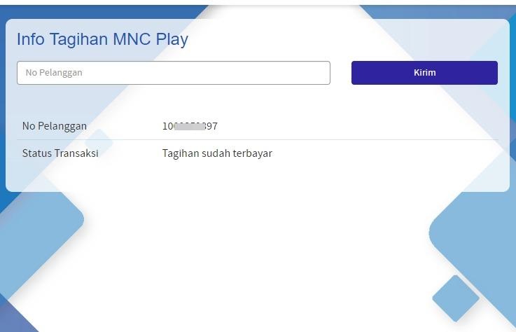 Contoh Tagihan MNC Play Yang Sudah Dibayar
