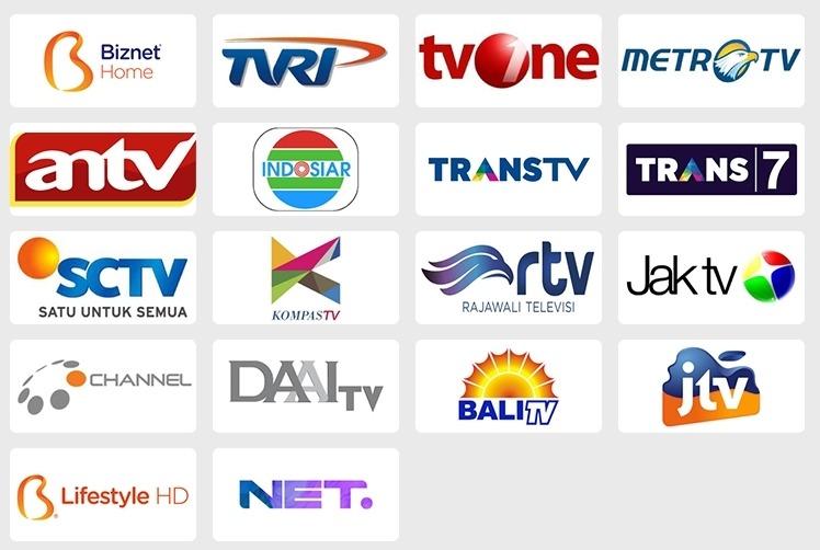 Harga Paket Biznet Home Internet Unlimited dan TV Kabel Berlangganan - Channel Lokal
