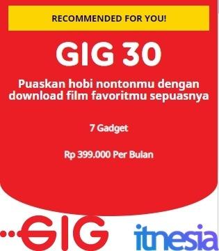 Harga Paket Internet Indosat GIG Perbulan - GIG 30