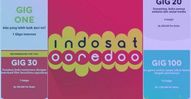 Harga Paket Internet Indosat GIG Perbulan (WiFi Di Rumah)