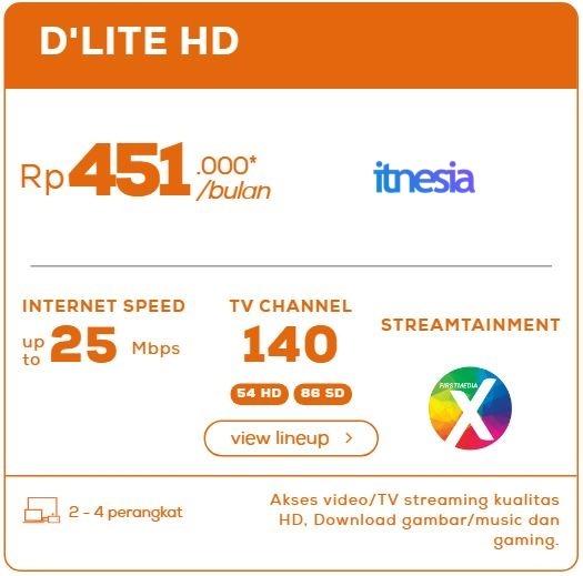 Harga Paket WiFi First Media Perbulan - D'Lite HD