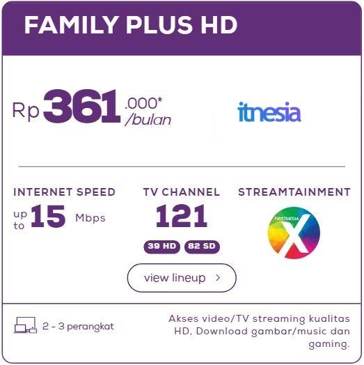 Harga Paket WiFi First Media Perbulan - Family Plus HD