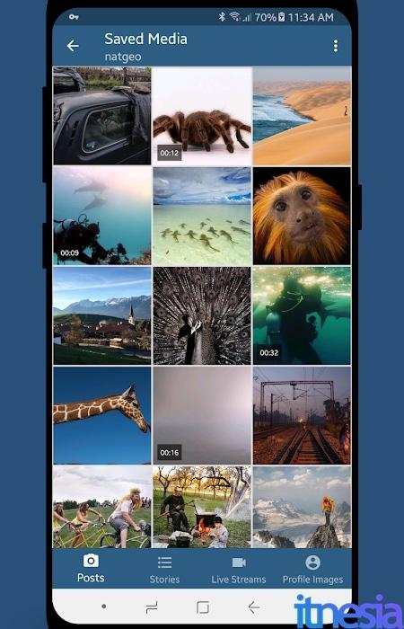 Hasil Download Video Instagram Stories dan Feed Pada Smartphone Android