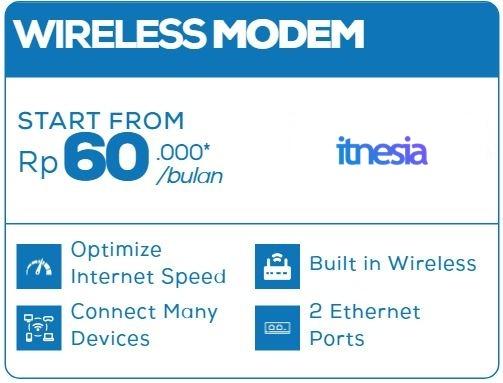 Layanan Tambahan Opsional First Media Wireless Modem
