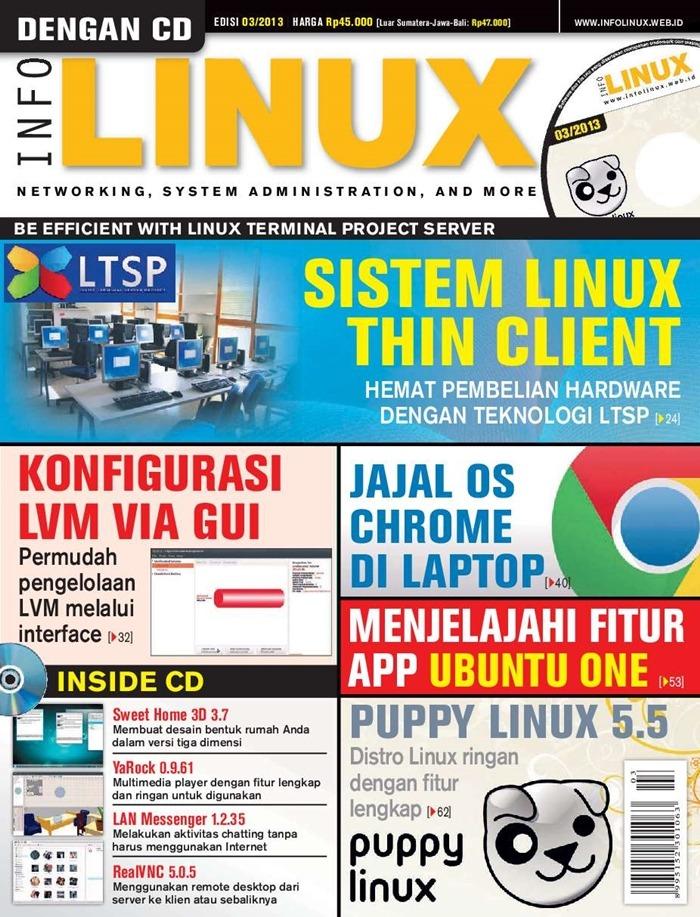 Majalah Komputer Di Indonesia - Info Linux Terbitan Terakhir Maret 2013
