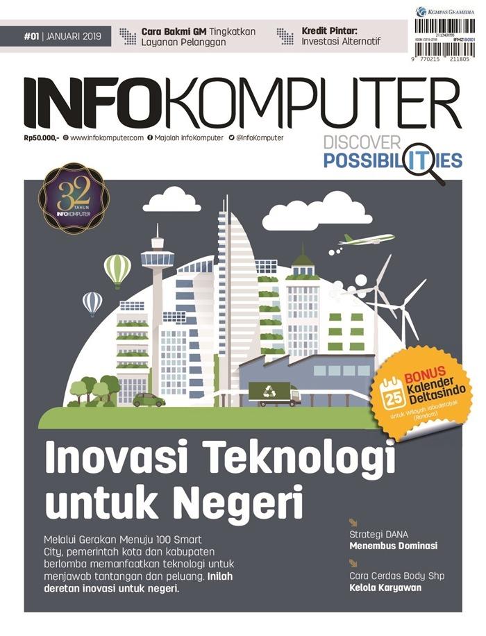 Majalah Komputer Di Indonesia - InfoKomputer Terbitan Januari 2019