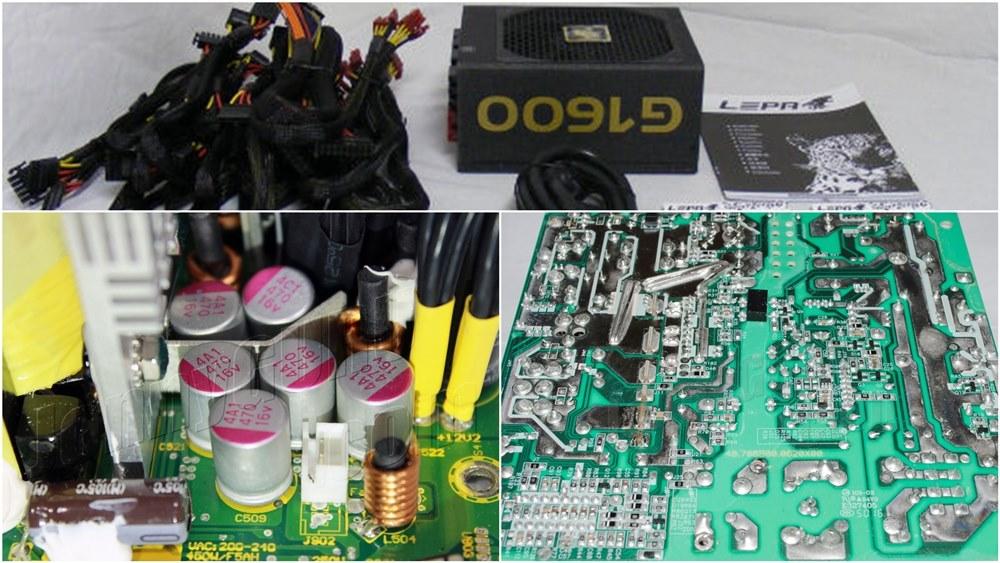 Power Supply Komputer Tier 3 - Atas Packaging Lebih Sederhana, Kiri Kapasitor Korea, Kanan Layout dan Soldering PCB yang cukup rapih