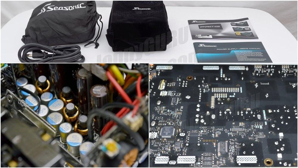 Power Supply Komputer Tier A Terbaik - Atas Packaging, Kiri Kapasitor Jepang, Kanan Layout dan Soldering PCB yang rapih