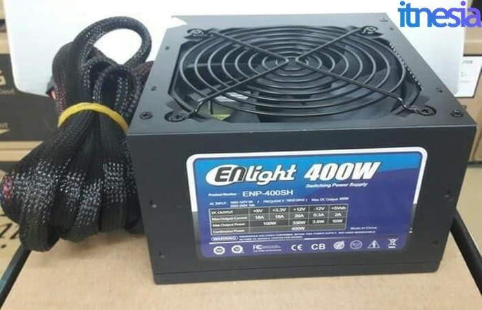 Rakit PC Gaming 2 Jutaan - Enlight 400W 80+ Black Silver