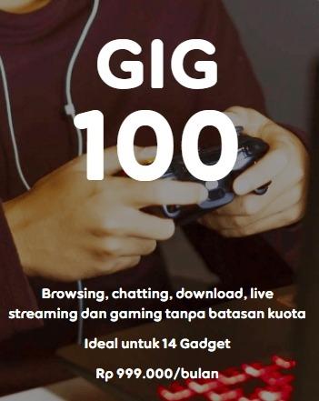 Harga Paket Internet Indosat GIG Perbulan - GIG 100