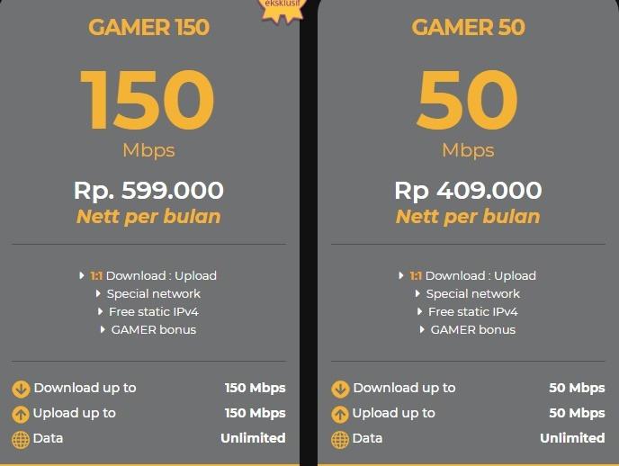 Harga paket myrepublic internet wifi Gamer