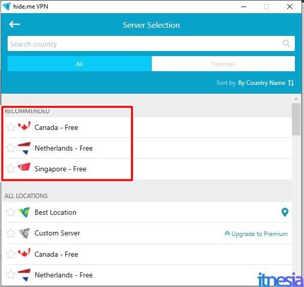 Pilihan Server VPN Gratis Pada Aplikasi HideMe VPN