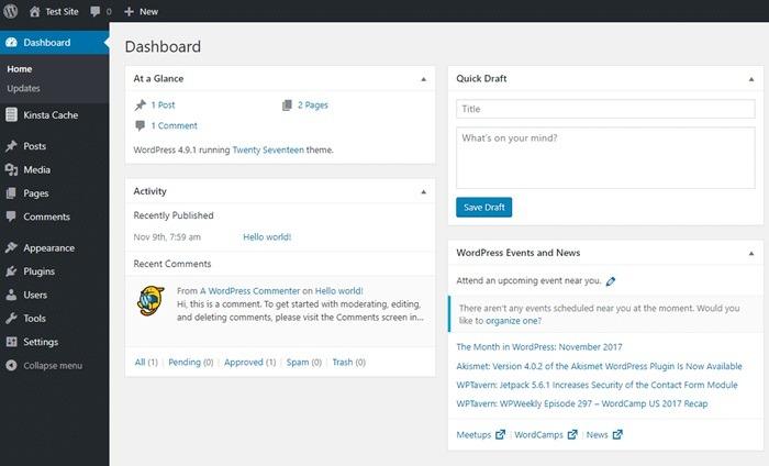 Fitur Dashboard WordPress