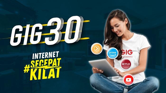 Harga Paket Internet WiFI Rumah Unlimited Indosat GIG Perbulan - GIG 30 2020