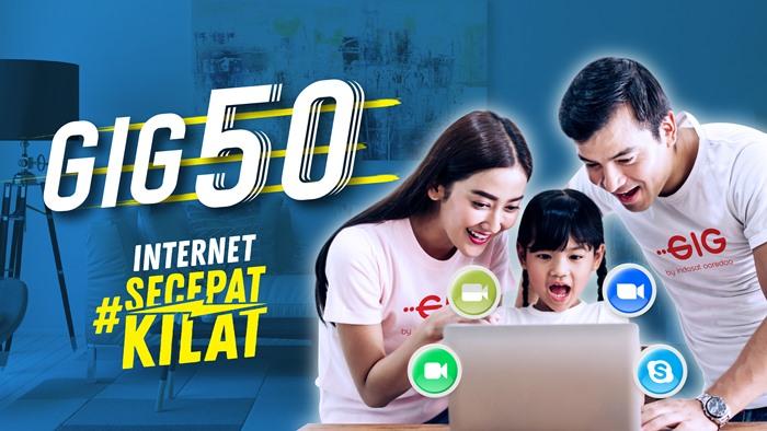 Harga Paket Internet WiFI Rumah Unlimited Indosat GIG Perbulan - GIG 50 2020