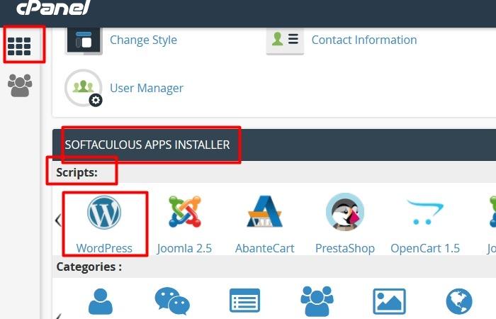 Install WordPress Dari cPanel Melalui Softaculous