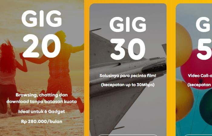 Paket WiFi Murah Untuk Di Rumah 2020 Indosat GIG 20 Mbps