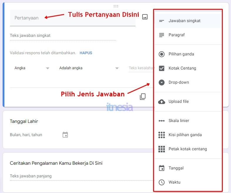 Cara Membuat Kuesioner Online Google Forms - Cara Membuat Pertanyaan