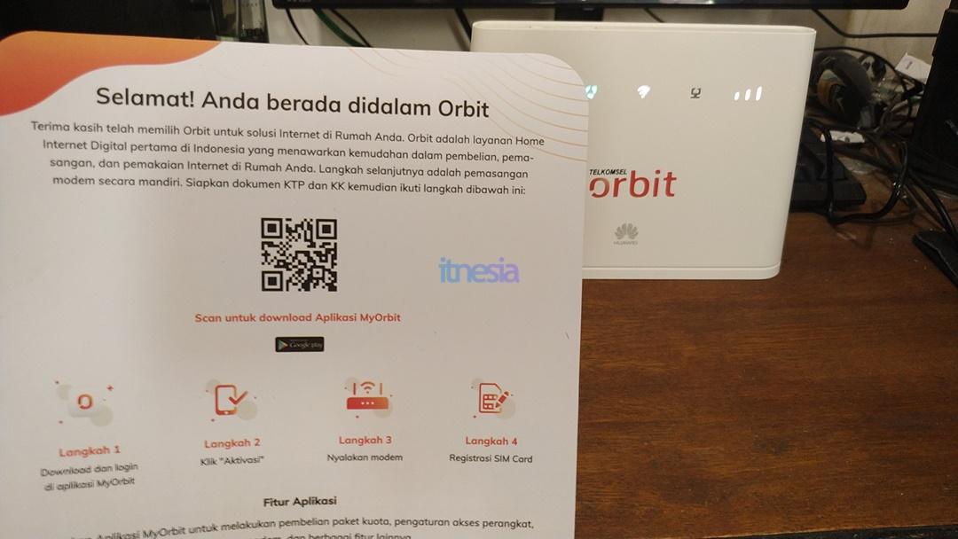 Kertas Ucapan Selamat & Sambutan Telkomsel Orbit Star